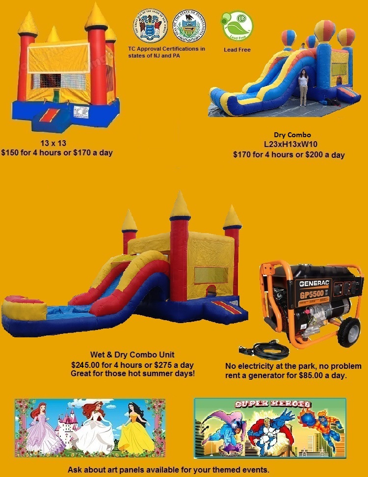 Inflatable moonbounces